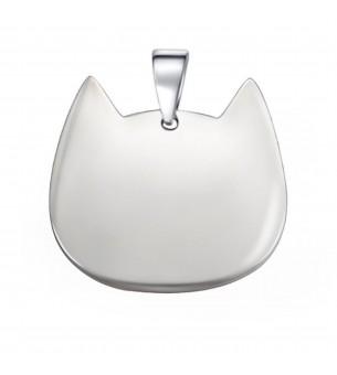 Médaille tête de chat acier...
