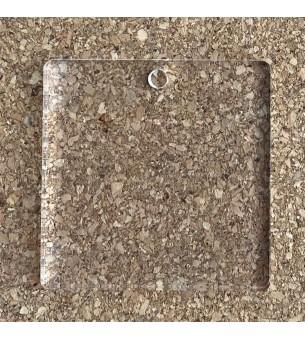 Pendentif plexiglas carré 40mm