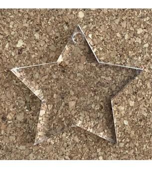 Pendentif plexiglas étoile...