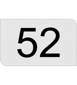 Plaque numéro de maison...