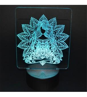 Lampe socle led tactile à...