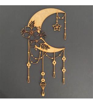 Lune avec pampilles 39cm...