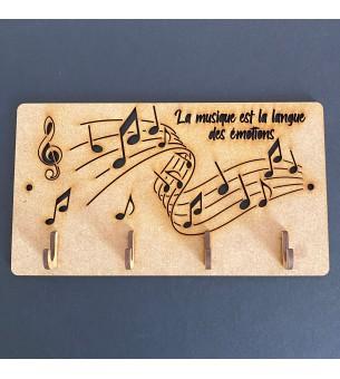 Plaque de porte-clé musique...