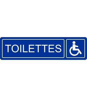 Plaque Toilettes handicapé...
