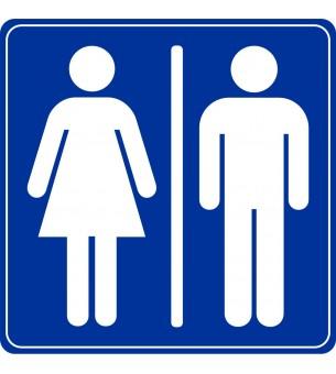 Plaque Toilette homme femme...