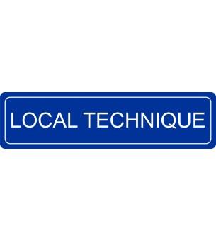 Plaque Local technique...