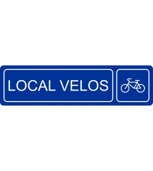 Plaque Local vélos...