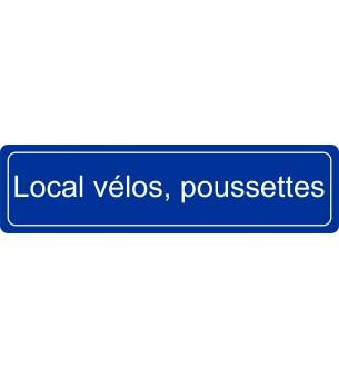 Plaque Local vélos,...