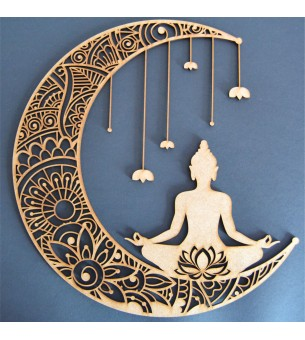 Lune avec bouddha 29 cm