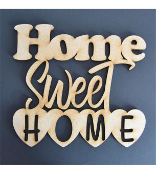 Phrase home sweet home 29 cm