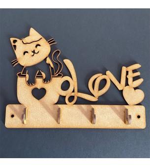 Plaque de porte-clés chat...