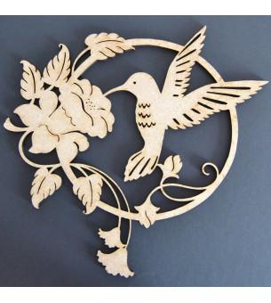 Colibri avec fleur 29 cm